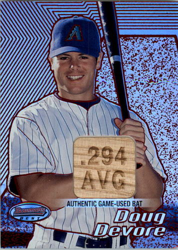 Photo of 2002 Bowman's Best Red #124 Doug Devore Bat