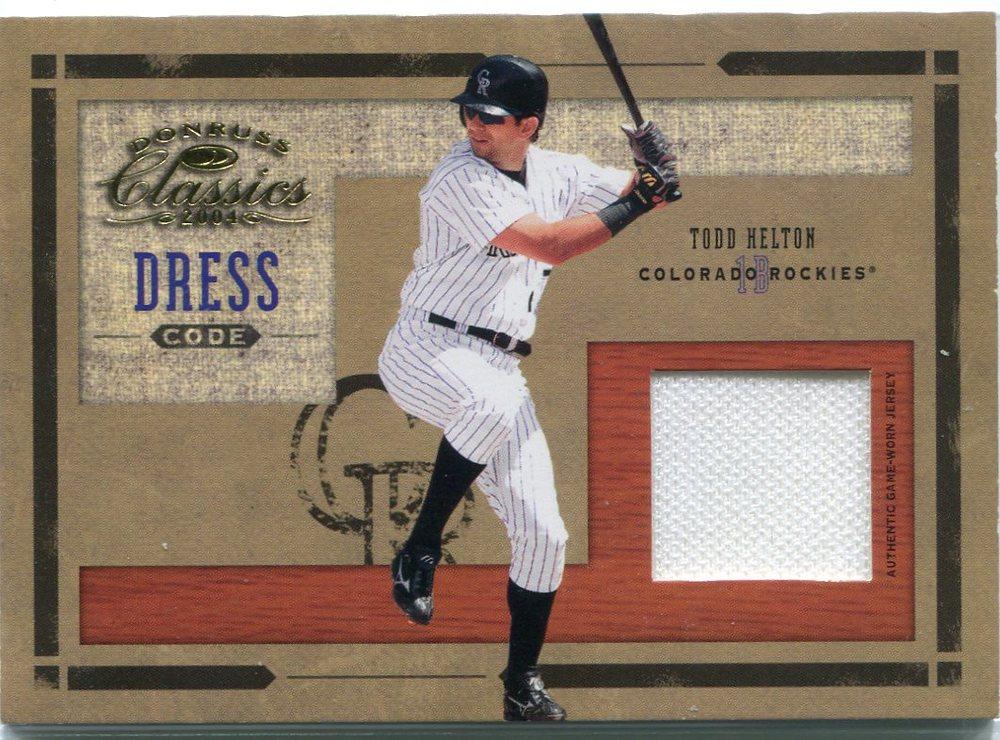 2004 Donruss Classics Dress Code Jersey #7 Todd Helton 99/100