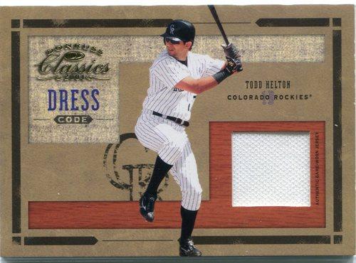 Photo of 2004 Donruss Classics Dress Code Jersey #7 Todd Helton 99/100