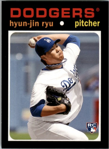 Photo of 2013 Topps Update 1971 Topps Minis #17 Hyun-Jin Ryu -- Dodgers post-season