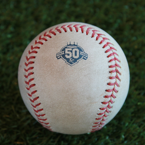 Game-Used Baseball: Melky Cabrera 1,852nd Career Hit (CLE @ KC - 9/27/18)