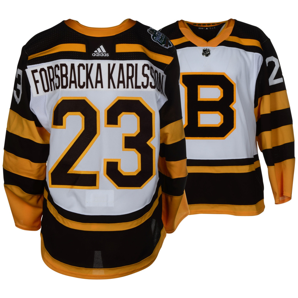 Jakob Forsbacka Karlsson Boston Bruins Game-Worn 2019 NHL Winter Classic Jersey