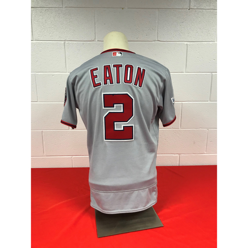 on sale 46414 28600 MLB Auctions | Adam Eaton Game-Used 2018 Road Grey Jersey ...