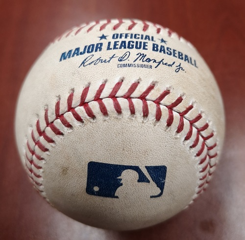 Photo of Authenticated Game Used Baseball - Single by Xander Bogaerts against Ken Giles (May 22, 19 vs BOS). Top 10