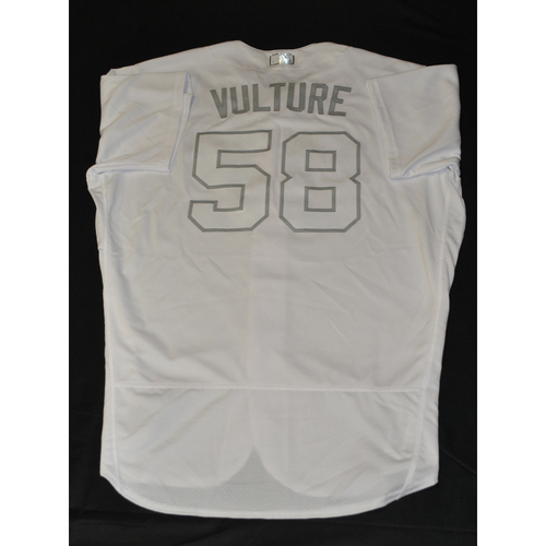"Photo of Phil ""VULTURE"" Regan New York Mets Game-Used 2019 Players' Weekend Jersey"