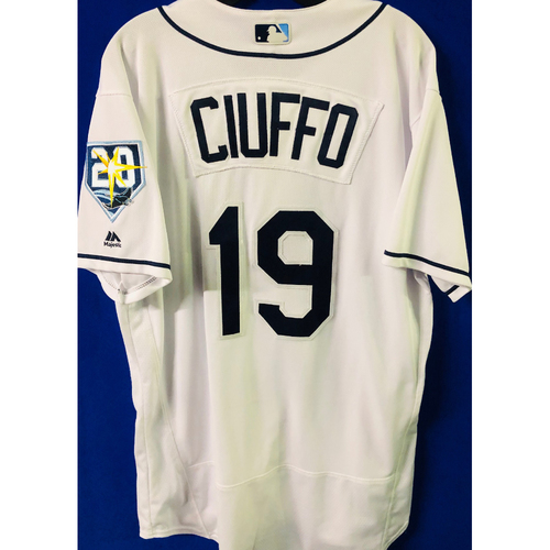 Game Used Jersey: Nick Ciuffo (size 46) - September 24-27 (NYY) & September 28 (TOR) - FIRST MLB SEASON