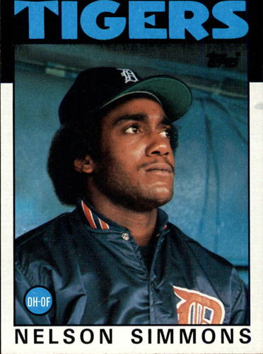 Photo of 1986 Topps #121 Nelson Simmons