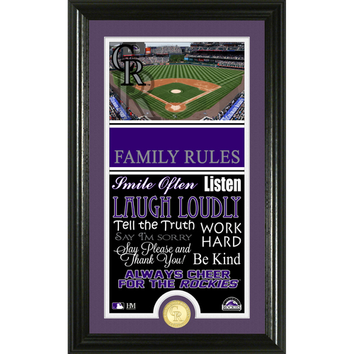 Photo of Colorado Rockies Personalized Family Rules Photo Mint