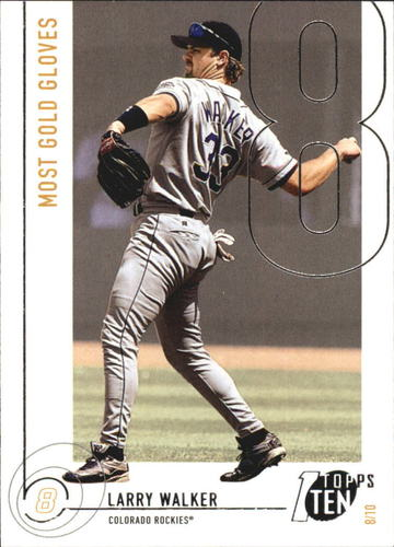 Photo of 2002 Topps Ten #189 Larry Walker GLV