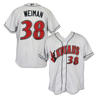 #38 Blake Weiman Autographed Game Worn Home White Jersey