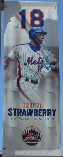 Photo of Darryl Strawberry #18 - Citi Field Banner - 2019 Season
