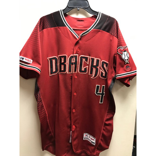 Photo of Ketel Marte 2019 Game-Used Red Alternate Jersey, 8/4/19 vs. Nationals and 9/1/19 vs. Dodgers -- 4-9, HR(24), RBI (66), 3 R