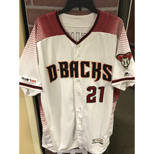 Photo of 6-Time All-Star and Gold Glove Winner Zack Greinke 2019 Team-Issued Home Primary Jersey