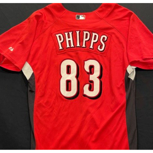 Photo of PHIPPS -- Authentic Reds Jersey -- $1 Jersey Auction -- $5 Shipping -- Size 44 (Not MLB Authenticated)