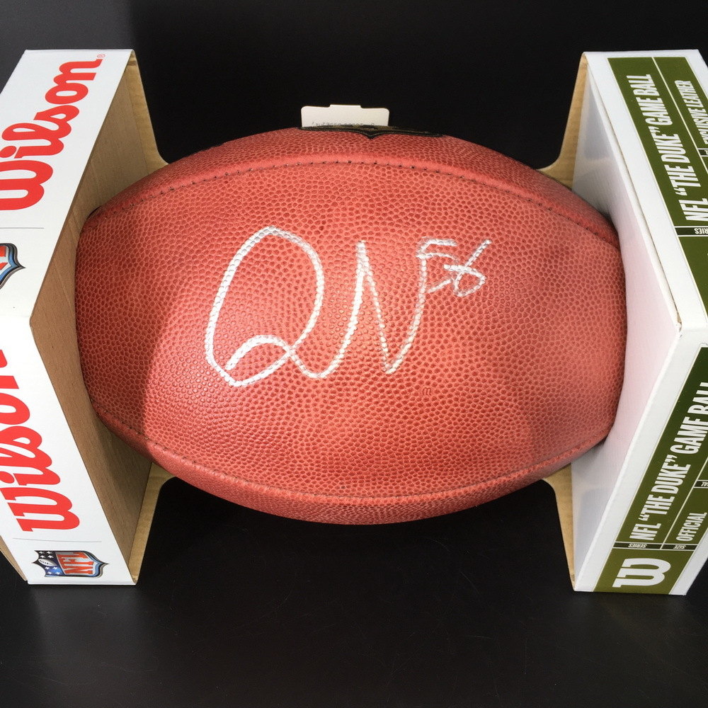 NFL - Colts Quenton Nelson Signed Authentic Football