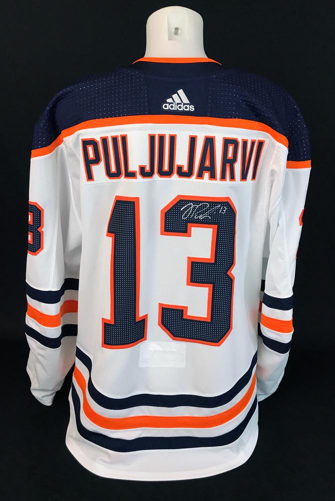 Jesse Puljujarvi #13 - Autographed 2020-21 Edmonton Oilers vs Calgary Flames Battle of Alberta Game-Worn Jersey