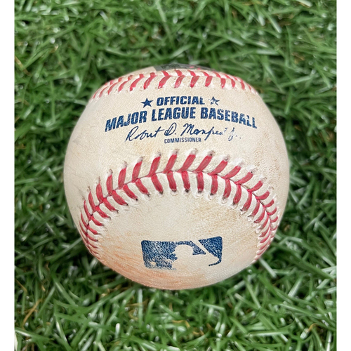Photo of Game Used Baseball: Kevin Pillar strike out, Rafael Devers strike out & J.D. Martinez double off Ryan Yarbrough - Top 1 - August 5, 2020