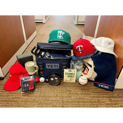 Photo of Twins Coaches My Favorite Things Basket