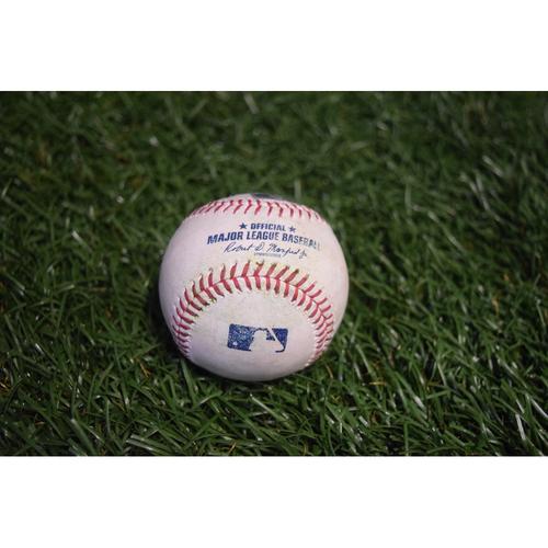 Game-Used Baseball: Starlin Castro single off Chris Archer - 9/13/17 at Citi Field v NYY