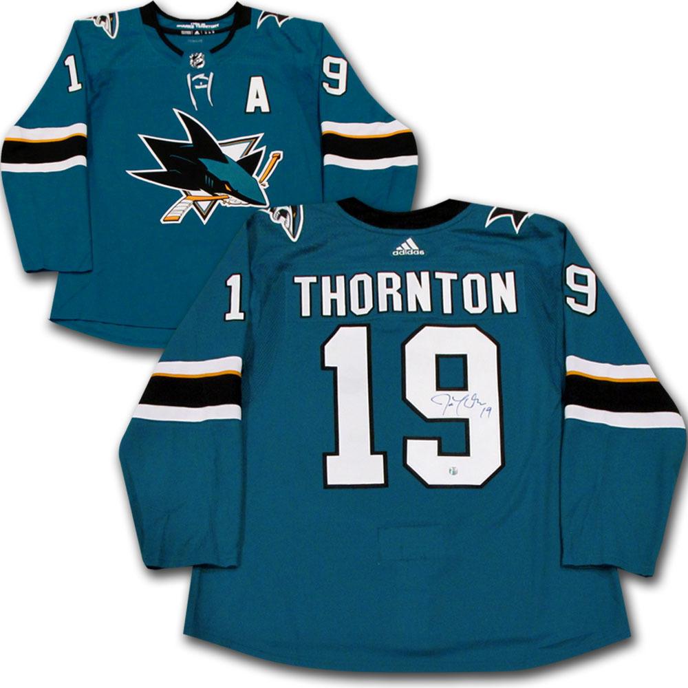 Joe Thornton Autographed San Jose Sharks adidas Pro Jersey - NHL ... 3909cbdcb