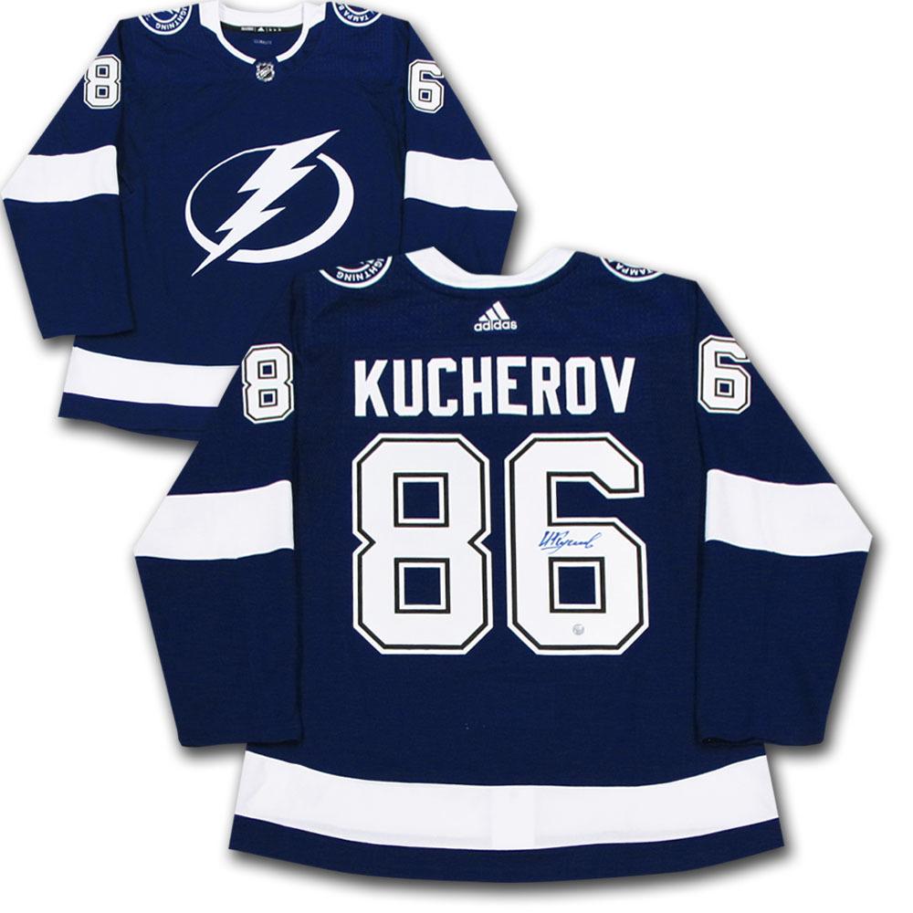 Nikita Kucherov Autographed Tampa Bay Lightning adidas Pro Jersey