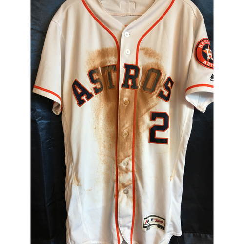 Photo of 2018 Alex Bregman Game-Used Home Jersey