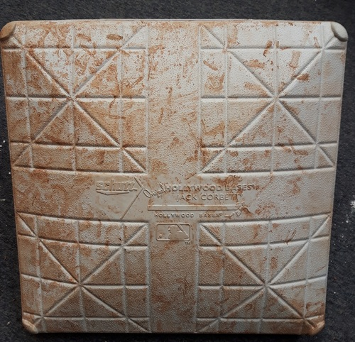 Photo of Authenticated Game Used Base - 1st Base for Innings 1-3 vs NY Yankees (July 6-8, 2018: In Place for Aaron Judge Home Run)