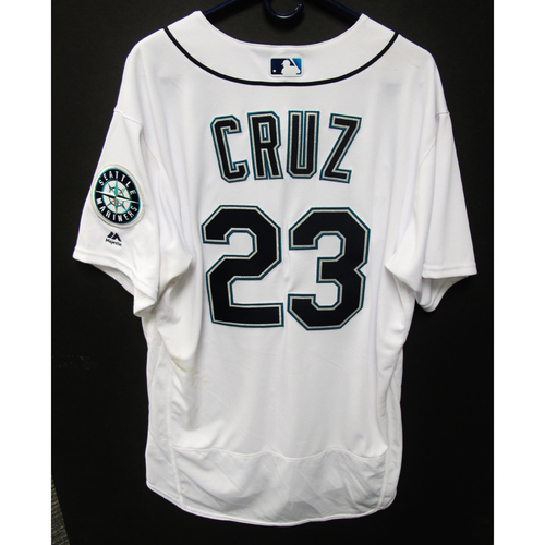 Photo of Seattle Mariners Nelson Cruz Game Used 2018 White Jersey (5/29/18)