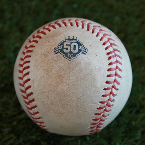 Game-Used Baseball: Trevor Bauer Pitched Strikeout to Rosell Herrera (CLE @ KC - 7/4/18)