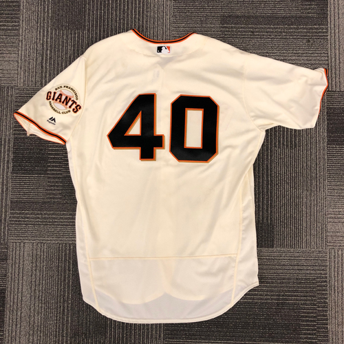 Photo of 2018 Holiday Deal! - 2017 Game Used Home Jersey worn by #40 Madison Bumgarner on 8/20  - 6.0 IP, 7 K's, 1 ER - 1-2, 1 RBI - Size 50