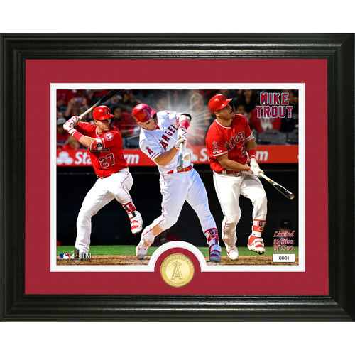 "Photo of Mike Trout ""Grand Slam"" Bronze Coin Photo Mint"