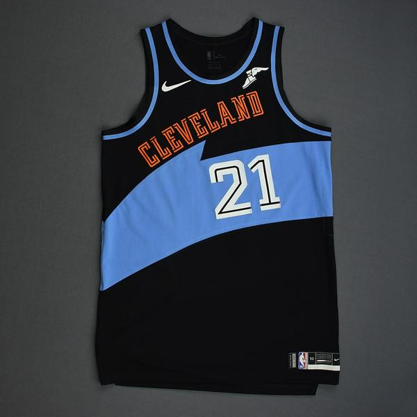 Image of Tyler Cook - Cleveland Cavaliers - Game-Worn Classic Edition 1994-96 Road Jersey - 2019-20 Season