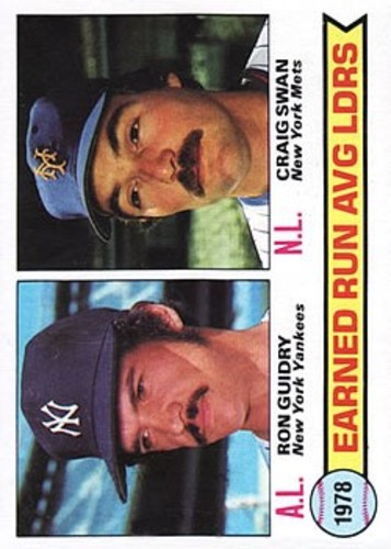 Photo of 1979 Topps #7 ERA Leaders/Ron Guidry/Craig Swan