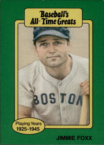 Photo of 1987 Hygrade All-Time Greats #35 Jimmie Foxx