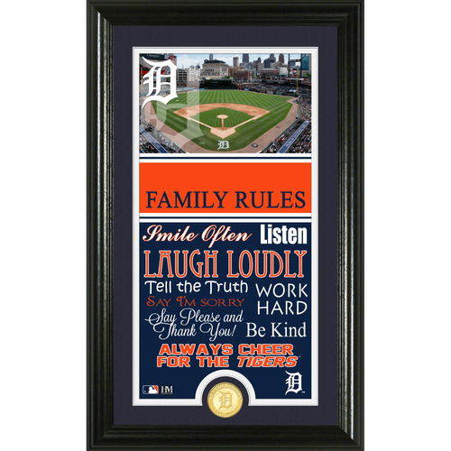 Photo of Detroit Tigers Personalized Family Rules Photo Mint
