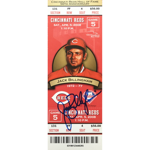 Photo of Jack Billingham Signed Ticket