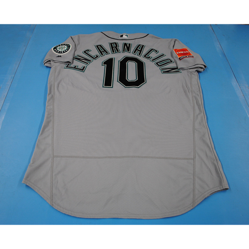 Photo of 2019 Japan Opening Series - Seattle Mariners Game-Used Jersey: Edwin Encarnacion - 3/21/19