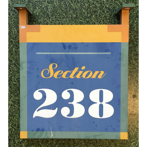 Photo of Milwaukee Brewers Miller Park Team-Issued Sign - Section 238
