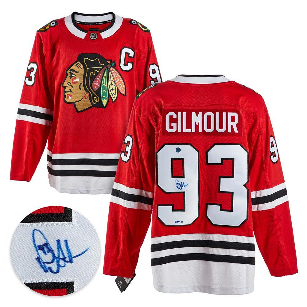 Doug Gilmour Chicago Blackhawks Autographed Red Fanatics Jersey