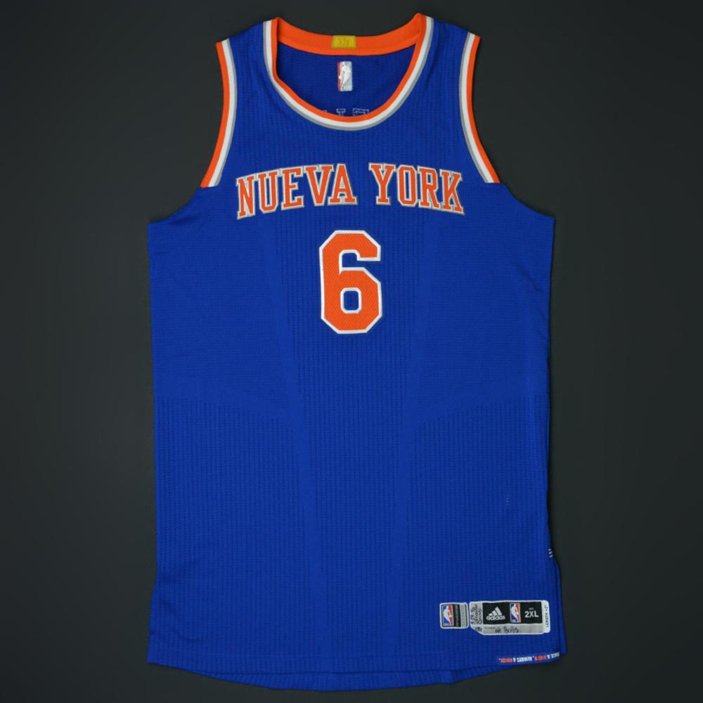 official photos 398ef df8ca Kristaps Porzingis - New York Knicks - Game-Worn