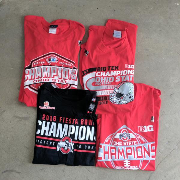 Photo of Ohio State Football Championship T-Shirt Set (4 Shirts)