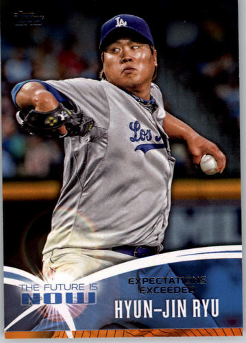 Photo of 2014 Topps The Future is Now #FN15 Hyun-Jin Ryu -- Dodgers post-season