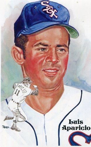 Photo of 1980-02 Perez-Steele Hall of Fame Postcards #185 Luis Aparicio -- HOF Class of 1980