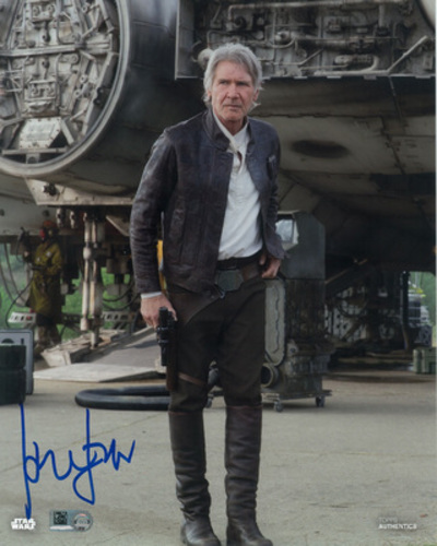 Harrison Ford as Han Solo 8x10 Autographed in Blue Ink Photo