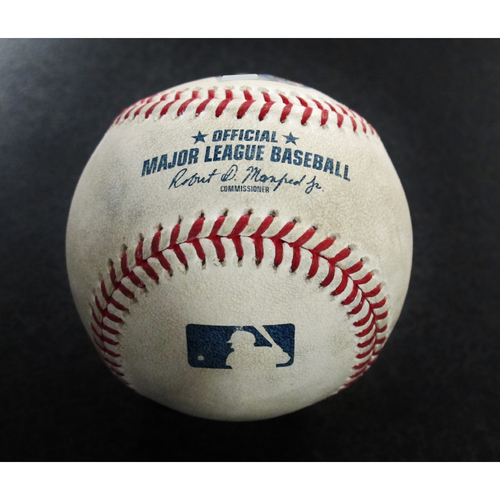 Photo of Game-Used Baseball From the James Paxton No-Hitter Game - Mariners vs. Blue Jays 5/8/18