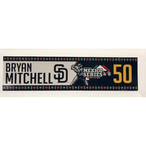 Photo of 2018 Mexico Series - Bryan Mitchell Game-Used Locker Tag