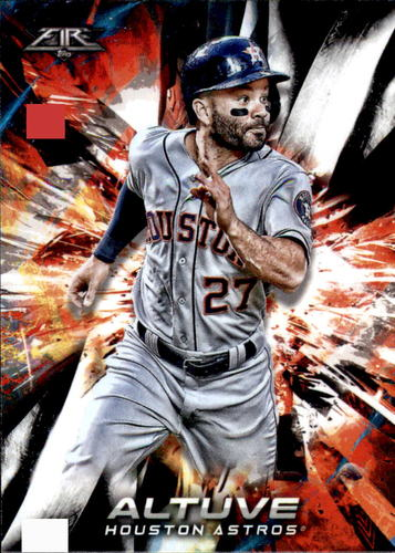 Photo of 2018 Topps Fire #105 Jose Altuve