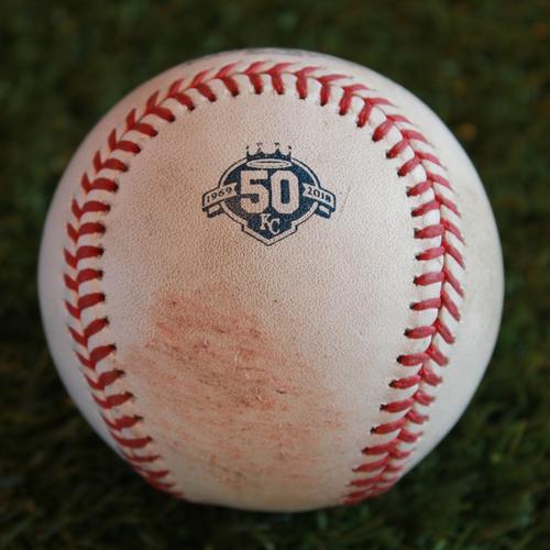 Photo of Game-Used Baseball: Sean Gilmartin Pitched Strikeout to Ryan O'Hearn (BAL @ KC - 9/2/18)