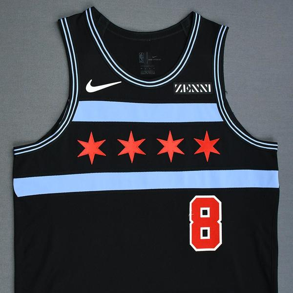 more photos cd06a 35773 Zach LaVine - Chicago Bulls - Game-Worn City Edition Jersey ...