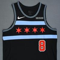 Zach LaVine - Chicago Bulls - Game-Worn City Edition Jersey - 2018-19 Season